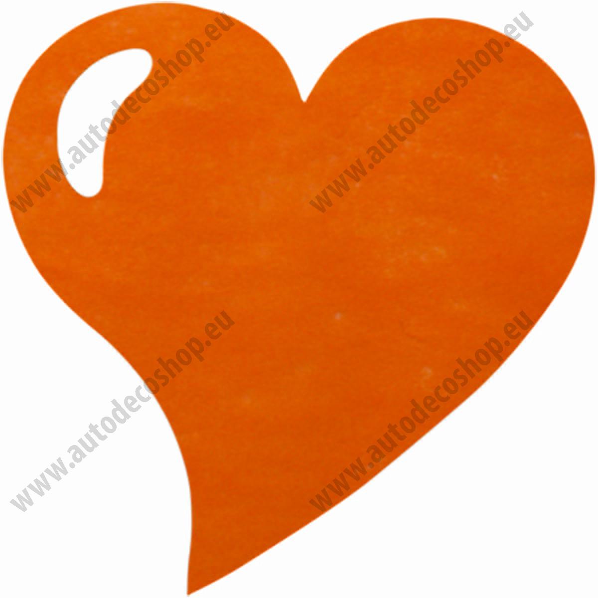Svatebni Prostirani Z Vlizelinu Srdce 38x38cm Oranzova